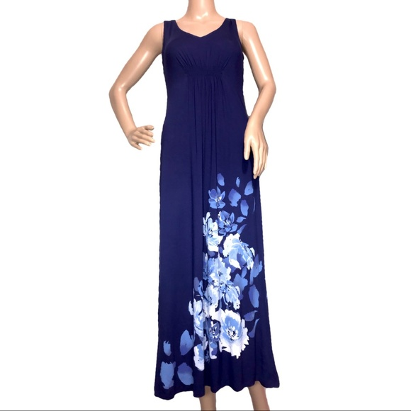 79cfac081d Aflani Floral Print Nightgown Blue XS